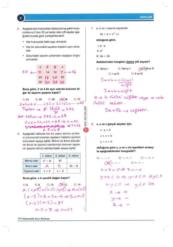 TYT-AYT Matematik Konu Anlatımlı Çözümleri - 0002