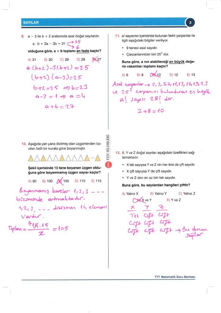 TYT-AYT Matematik Konu Anlatımlı Çözümleri - 0003