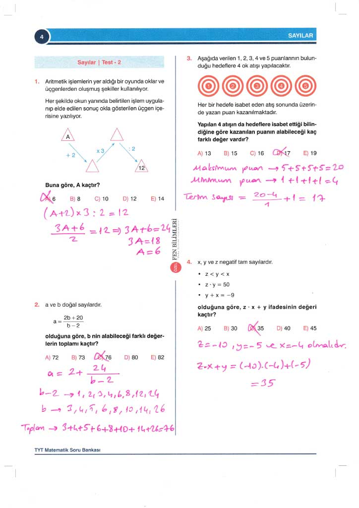TYT-AYT Matematik Konu Anlatımlı Çözümleri - 0004