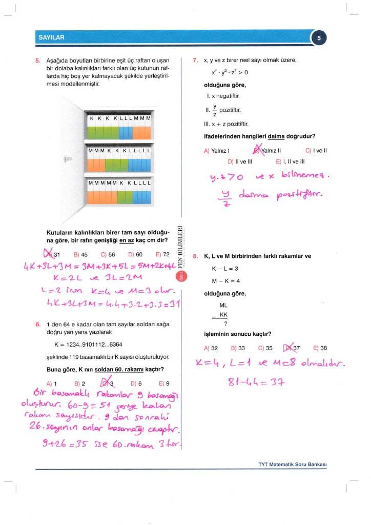 TYT-AYT Matematik Konu Anlatımlı Çözümleri - 0005