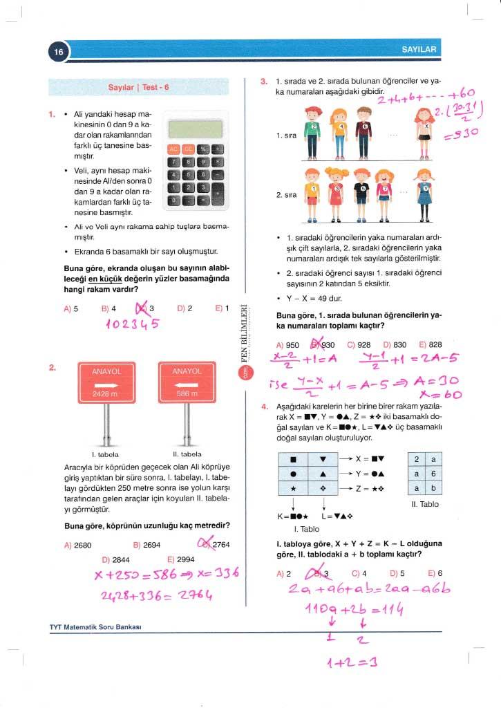 TYT-AYT Matematik Konu Anlatımlı Çözümleri - 0016