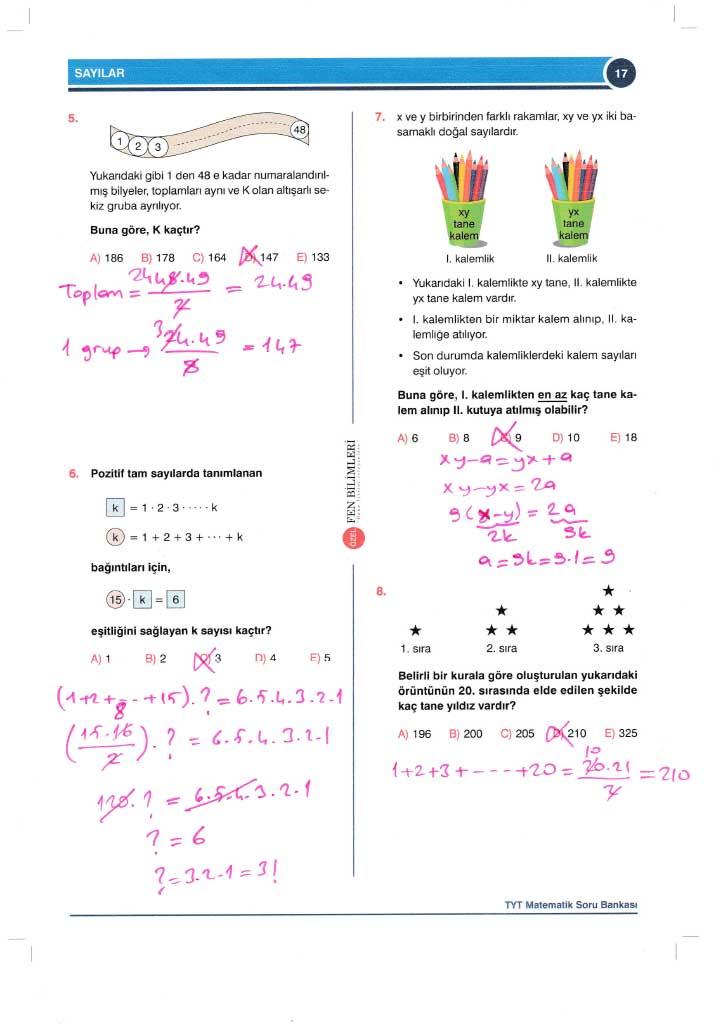 TYT-AYT Matematik Konu Anlatımlı Çözümleri - 0017